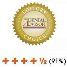 Dental Advisor Editors Choice Awarded